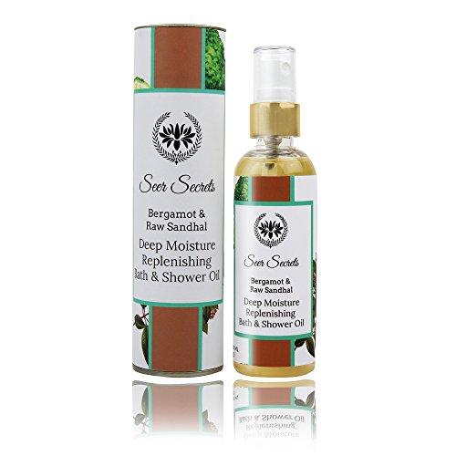 Seer-Secrets-Bergamot-Raw-Sandhal-Deep-Moisture-Replenishing-Bath-Shower-Oil-Lotion-Replacement-No-Mineral-Oil-100-Natural-SPF-9-100-ML