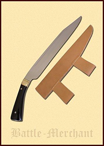 Battle-Merchant Langsax mit Horngriff, 9. Jahrhundert - Saxmesser - Ab 18 Jahren