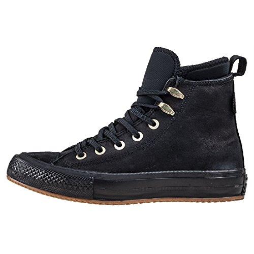 Chaussures Converse Hautes En Cuir Avec Lacets Ct As Wp Boot Hi Noir Noir