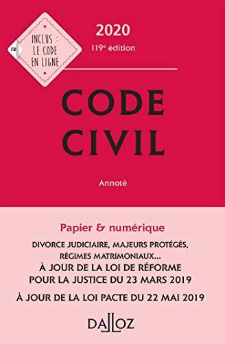 Code civil 2020, annoté - 119e éd. par  (Relié - Jul 3, 2019)