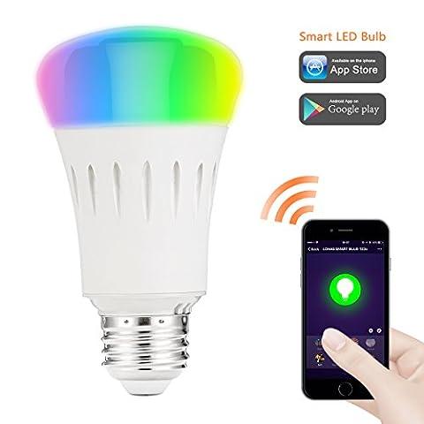 LOHAS® 9W E27 WLAN Multi Farbe Smart LED Lampen, Dimmbar, Ersatz für 60W Glühbirnen, 810lm, Steuerbar via App, Einstellung der Szene, intelligentes Leben, wählen Sie zuerst Smart Home