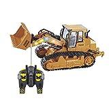 RC big bagger spielzeug Kinder, Fernsteuerungs Bagger Spielzeug Nachgemachter Großer Bulldozer mit Sound und Licht für Kinder