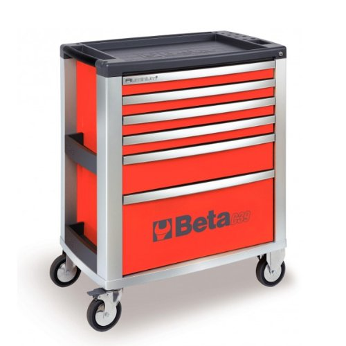 Beta C39 R Mobile Cab mit 7-drawers – Rot