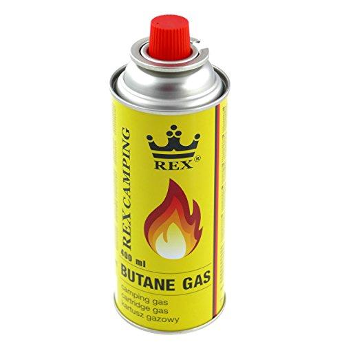 8x 227g - 400ml Butan Gaskartuschen mit Ventil für Grill, Lötlampe, Campingkocher, Gasheizung, Lötbrenner, Lötmeister ---> Brenndauer bis zu 3h Butangas MSF-1a 227