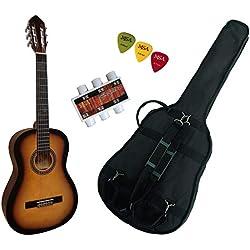 Pack Guitare Classique 4/4 (Adulte) Avec 3 Accessoires (sunburst)