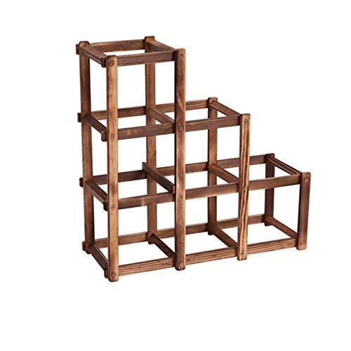 7°MR wein regal Faltbare Holzkohle Farbe 6 Grid Holz Weinhalter Mode Weinregal Bar Home Restaurant Decor Küchenhalter Display Regal Orgel -