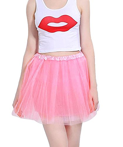 Mangotree Damen Tütü Minirock Organza Pettiskirt 3 Layers Petticoat Tanzkleid Unterrock