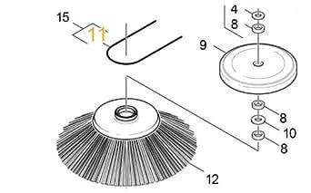 Courroie Ronde Rep 11 Référence : 63627130 Pour Pieces Aspirateur Nettoyeur Petit Electromenager Karcher