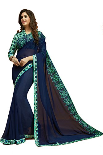 Tagline Women's Clothing Saree Collection in Multi-Coloured Georgette For Women Party Wear,Wedding...