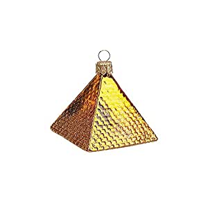 Mini Pyramide égyptien polonais Décoration de Noël en verre soufflé bouche
