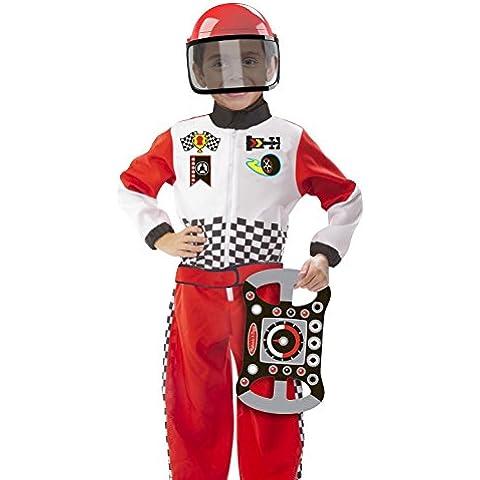 Melissa & Doug 18562 - Disfraz de piloto de automóviles de carreras