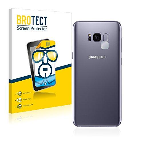 2x BROTECT Displayschutzfolie Samsung Galaxy S8 Plus (Kamera Rückseite) Schutzfolie Folie - Klar, Anti-Fingerprint (Samsung Kamera-tasche)