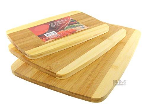 Schneidebrett aus Bambus, 3-teiliges Set, für Küche, Schnitzen, Schneidebrett Bambus Sushi-board
