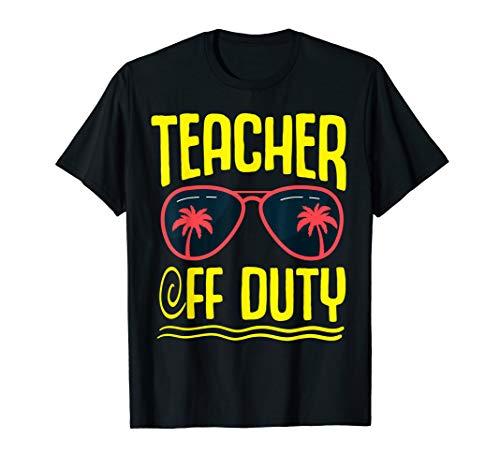 Letzter Schultag Palme Sonnenbrille Lehrer außer Dienst T-Shirt