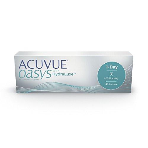 ACUVUE OASYS 1-Day Tageslinsen helfen das Gefühl von müden & trockenen Augen zu reduzieren - Tageskontaktlinsen mit -2.25 dpt und BC 8.5 - UV Schutz & hoher Tragekomfort - 30 Linsen