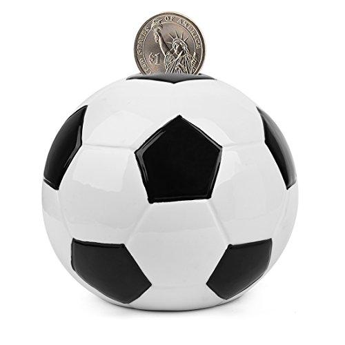 """sparschwein keramik - fußball Spardosen münze Bank - 5 Designs für Wahl Golf/Basketball/Fussball/Rugby/Hockey) 6,5\""""- PEHOST"""