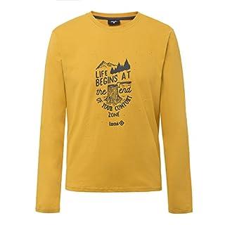 Izas Men's Arosa Outdoor Cotton T-Shirt, Gold Honey/Dark Grey, X-Large