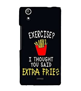 Exercise Fries 3D Hard Polycarbonate Designer Back Case Cover for Micromax Canvas Selfie 2 Q340