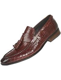 GRRONG Zapatos De Cuero De Los Hombres Vestido Ocasional Del Asunto Simple Punto De Banquetes