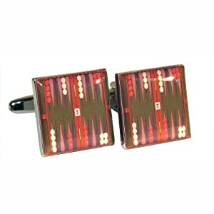 Backgammon Board Design Manschettenknöpfe
