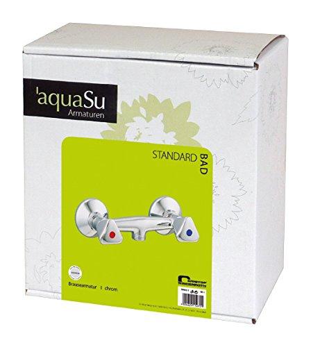 AquaSu – Duscharmatur mit Zweigriffmischer für Brause, Chrom - 3
