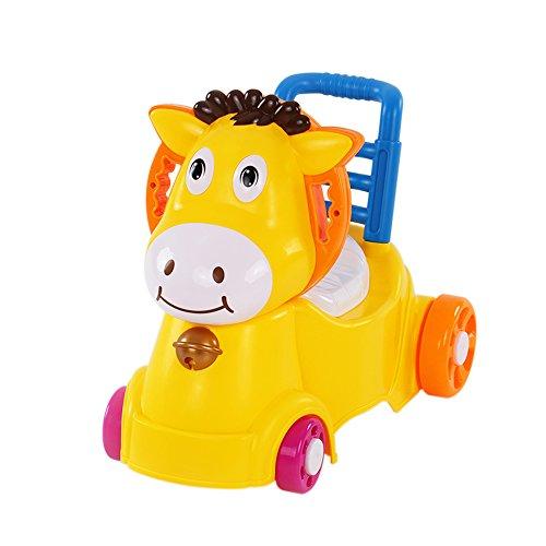Goolsky 3 in 1 bambino Unisex igienici vasino Pony Walker musica carrello per bambini bambino