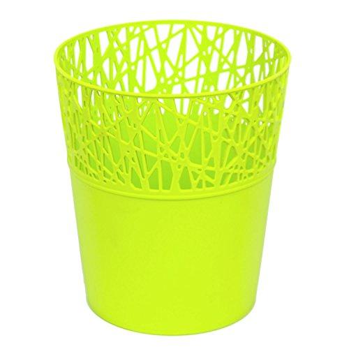 Rond cache-pot 18 cm CITY en plastique romantique style en lime