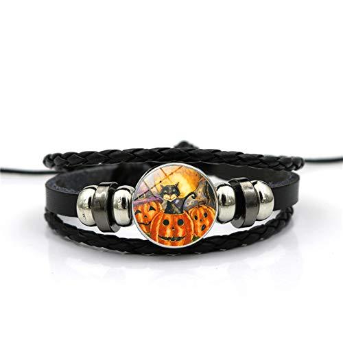 Blisfille Handgemachte Halloween Grimasse Zeit Edelstein Armband Mode Armband Armband Herren Damen Geschenk