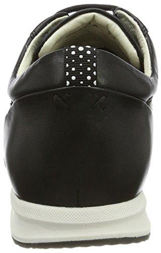 Geox Damen D Avery A Sneakers Schwarz (Blackc9999)