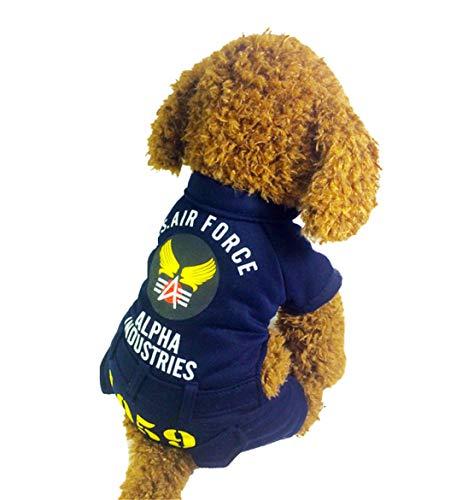 Dobbi Herbst Winter Haustier Hunde Warme Dicke Kleidung Weich Komfortabel Jumpsuit Tier Jacke Puppy Coat Eng Anliegend Wintermäntel Welpen Niedlich Lässige Mäntel Pet Slim Fit ()