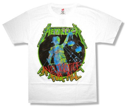 Hanes Bravado Adult Metallica Gerechtigkeit f¡§?r alle Wei? T-Shirt (2X-Large)