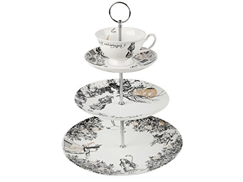V&A Alice in Wonderland 3-Tier Cake Stand by Creative Tops