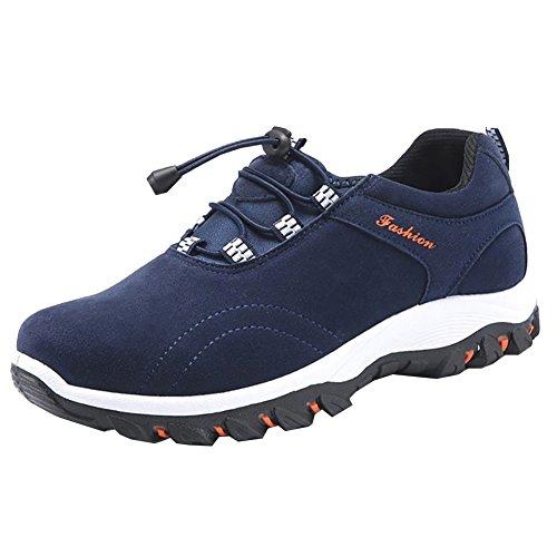 Chaussures Homme Randonnée Marche Respirant Chaussures de Randonnée Basses Homme Bleu Foncé