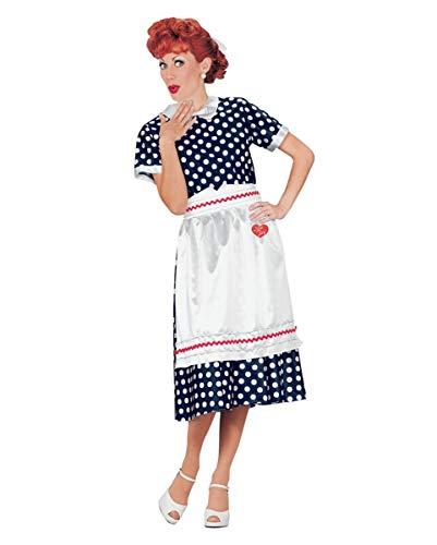 Lucy Ball Kostüm - Horror-Shop 50er Jahre I Love Lucy Rockabilly Hausfrau Kostüm für Mottopartys S/M
