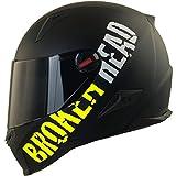 Broken Head BeProud Ltd. - Schlanker Motorradhelm Mit Schwarzem Zusatz-Visier - Matt-Schwarz &...