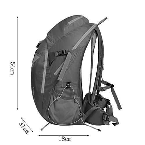 AMOS Bergsteigen Tasche Schulter Männer und Frauen große Kapazität 40L Outdoor Reise Rucksack Wandern Paket reflektierende Dunkelviolett