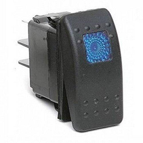 Mintice™ 12V 20A bleu imperméable véhicule voiture bleue LED Bar lumière interrupteur à bouton-poussoir 3Pin