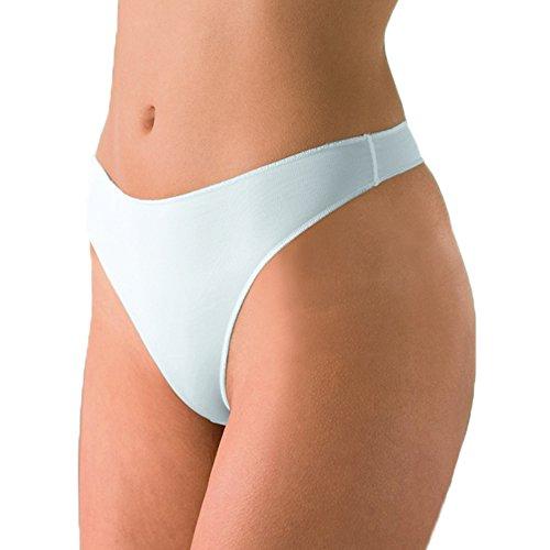 Nina von C. 3er Pack Damen String Secret - Schwarz - Größe 44 - Slip mit flachen Abschlüssen - Unterwäsche mit extra flachen Nähten