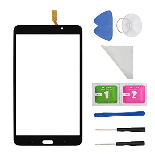 7 Galaxy 4 Ersatz-bildschirm Tab (E Soul Schwarz Touch Screen Panel Digitizer Glas für Samsung Galaxy Tab 4SM-T230T230NU 17,8cm Zoll mit (Kleber) und Werkzeug)