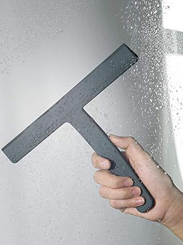 Tartiery Lavavetri per Doccia Lavavetri per Doccia Grafite Metallica Asciuga Superfici Piatte E Curve Ideale per Lavare Asciugare Bagno Stanza Umida