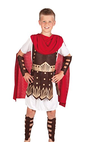 Boland 82128 - Kinderkostüm Gladiator, weiߟ (Mittelalter Krieger Umhang Erwachsene Kostüme)