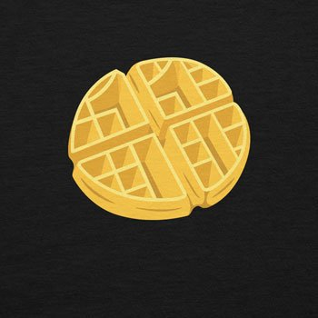 Planet Nerd - Elfi's Waffles - Damen Kapuzenpullover Schwarz