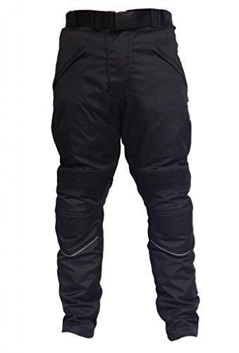 BASICS Pantalones Hombre, Impermeables, CE, para Moteros, Hombre, Pantalones, CT-BK-CH-38,30, Negro, Waist 38/Leg 30