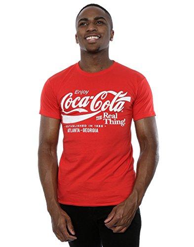 Coca Cola Herren Atlanta Georgia T-Shirt Large Rot (Herren Coca-cola)