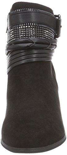 La Strada Schwarze Suède Look Stiefeletten, Bottes Classiques femme Noir (2201 - Micro Black)