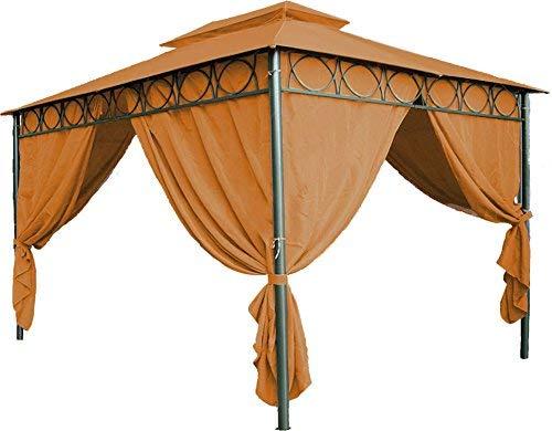 Spetebo Ersatzdach für Pavillon Cape Town 4x3 m - wasserdicht - in 3 Farben - Pavillondach 3x4 m mit PVC Beschichtung (Terracotta)