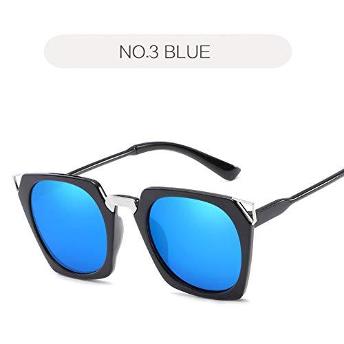 GJYANJING Sonnenbrille Cat Eye Sonnenbrille Frauen Mode Retro Rechteck Sonnenbrille Weibliche Schwarz Rosa Brille Männer Spiegel Brillen