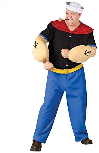 Seemann Kostüm - 5teilig (XL-XXL) (Halloween-kostüm Popeye)