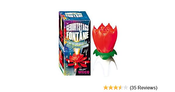 Musical Flower Birthday Candle LOTUS CANDLE Amazoncouk Kitchen Home