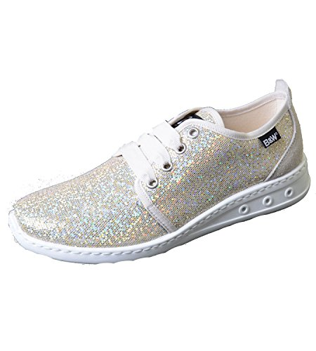 Break & Walk Sneaker Glitter platino glitter B & W scarpe, multicolore (multicolore), 39 EU